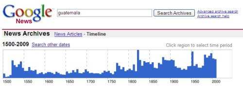 Guatemala y su historia (a la Google Archive)