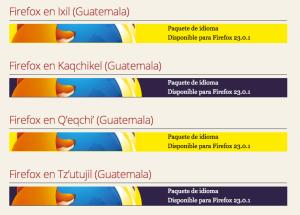 Mozilla Firefox en Idiomas Mayas